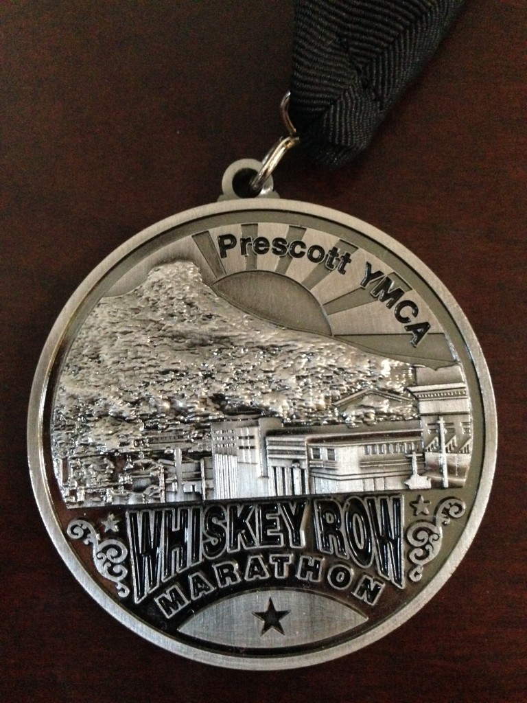 Whiskey Row Marathon medal